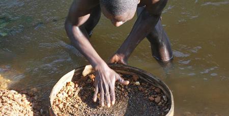 Exploitation artisanale du diamant en République Centrafricaine