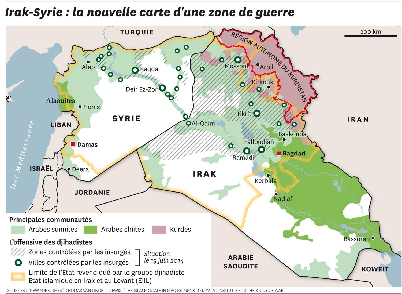 Résultats de recherche d'images pour «syrie irak map»