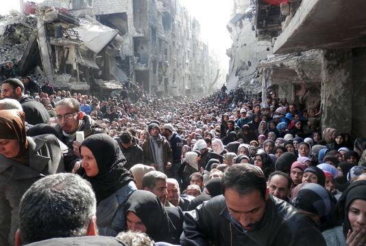 Camp de Yarmouk, 31 janvier 2014