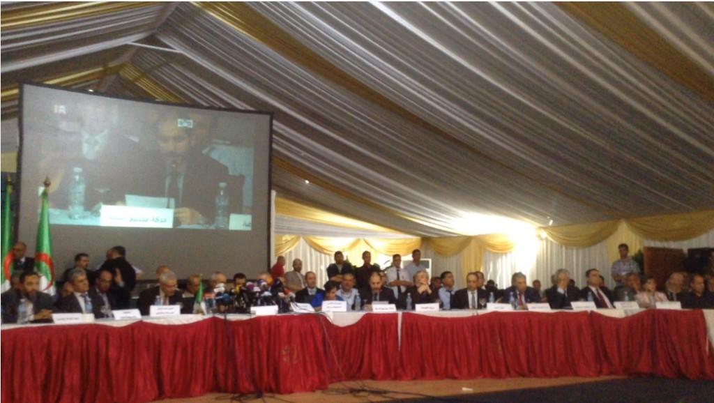 Conférence pour la transition démocratique, réunion de l'opposition algérienne, 10 juin 2014. Source : http://www.algerie-focus.com