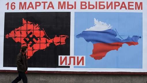 Affiche lors du référendum en Crimée