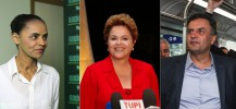 Marina Silva (PSB), Dilma Rousseff (PT), Aecio Neves (PSDB)