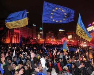 Manifestants sur la place Maidan, novembre 2013