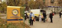 campagne électorale dans les rues de Kiev
