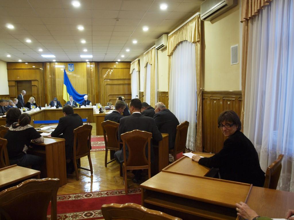 A la commission électorale centrale de Kiev. Crédits : Anne Rio