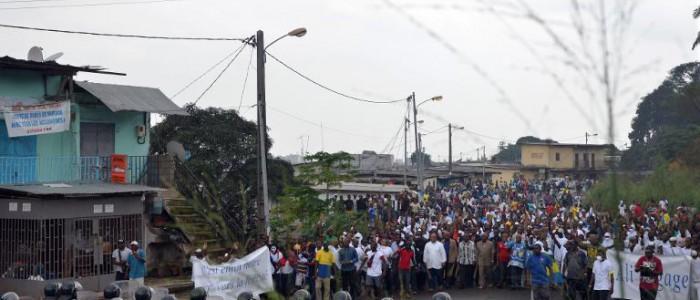 Manifestation réprimée à Libreville, 20 décembre 2014